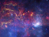 NASA's Great Observatories Examine the Galactic Center Region Space Photo Art Poster Print