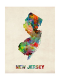 New Jersey Watercolor Map