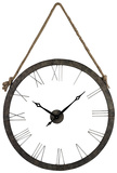Cascade Metal Wall Clock with Rope