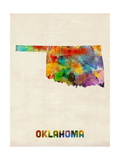 Oklahoma Watercolor Map