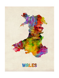Wales Watercolor Map
