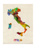 Italy Watercolor Map  Italia