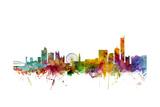 Manchester England Skyline Reproduction d'art par Michael Tompsett