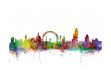 London England Skyline Reproduction d'art par Michael Tompsett