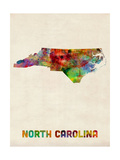 North Carolina Watercolor Map