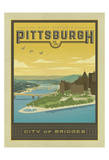 Pittsburgh, City of Bridges Reproduction d'art par Anderson Design Group