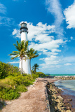 Famous Lighthouse at Cape Florida in the South End of Key Biscayne   Miami
