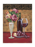 Vintage Flowers and Wine I