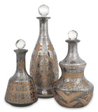 Kozani Etched Glass Decanter Set