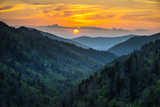 Gatlinburg Tn Great Smoky Mountains National Park Scenic Sunset Landscape