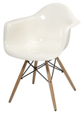 Preston Acrylic Chair - White