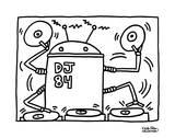 DJ 84, 1983 Reproduction d'art par Keith Haring