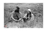 Woodstock- Sitting in the Field (Black and White)