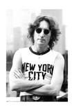 John Lennon - New York Shirt 1974 (Black and White)