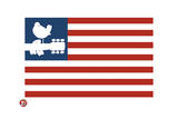 Woodstock- Love Dove Logo American Flag