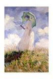 Essai de figure en plein air (1886)  Dit femme à l'ombrelle tournée vers la gauche