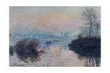 Soleil couchant sur la Seine à Lavacourt  effet d'hiver