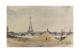 Vue du quai d'Auteuil et du pont de Grenelle