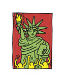 Statue of Liberty, 1986 Giclée par Keith Haring
