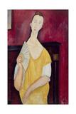 Femme à l'éventail  Lunia Czechowska (1919)