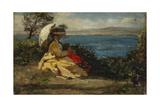 La femme à l'ombrelle  baie de Douarnenez  1872