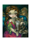 Princess with a Maine Coon Cat