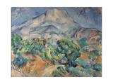 La montagne Sainte-Victoire au-dessus de la route du Tholonet