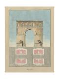 Manuscrit et description graphique de l'Arc de triomphe de l'Etoile