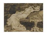 Portrait de Sarah Bernhardt  étude préparatoire