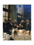 Avant l'opération  ou le docteur Péan enseignant à l'hôpital Saint-Louis