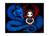 Blue Serpent - a Gothic Fairy and her Dragon