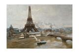 La Tour Eiffel et le Champ-de-Mars en janvier 1889 - les travaux de l'Exposition universelle