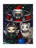 Christmas Ferrets - a Ferret Painting