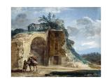 Femme montée sur un mulet  vers 1780