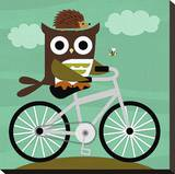 Owl and Hedgehog on Bicycle