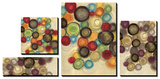 Colorful Whimsy - Circles Tableau multi toiles par Jeni Lee