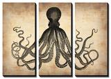 Vintage Octopus Tableau multi toiles par NaxArt