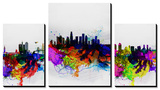 California Cities Watercolor Skylines Tableau multi toiles par NaxArt