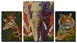 Safari Creatures Paper Mosaic