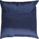 Brilliant Solid Pleated Pillow Down Fill - Cobalt