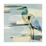 Grand héron bleu Giclée premium par Lanie Loreth