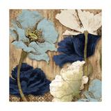 Blue Joyful Poppies II Giclée premium par Elizabeth Medley