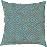 Atlas Birdseye Linen Pillow - Aqua