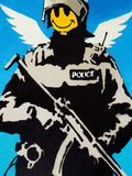 Smiley Face Police Graffiti