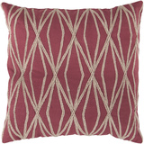 Dominican Diamond Linen Pillow Down Fill - Dusty Cherry