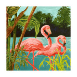 Hot Tropical Flamingo II