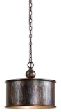 Albiano Light Oxidized Bronze Drum Pendant Lamp