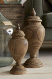 Brisco Carved Wood Finials  Set/2