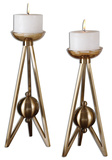 Atlas Bronze Candleholder Set*