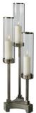 Risto Brushed Aluminum Candleholder